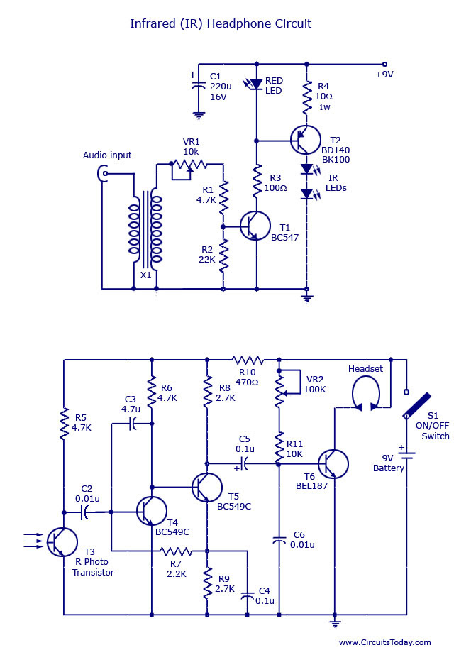 Infrared (IR) Headphone Circuit
