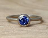 Purplish Blue Sapphire Solitaire - Silverwoods