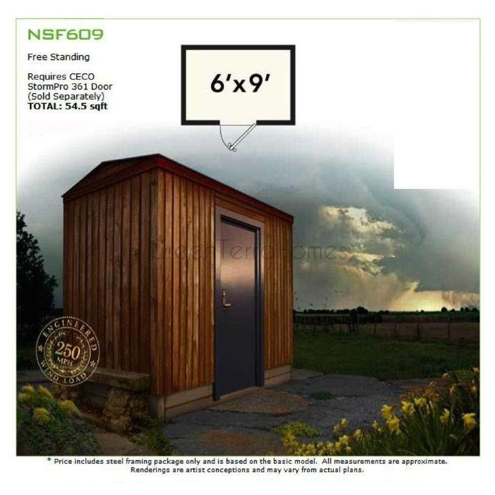 Greenterrahomes 6 X 9 Safe Room Storm Shelter Frame Kit