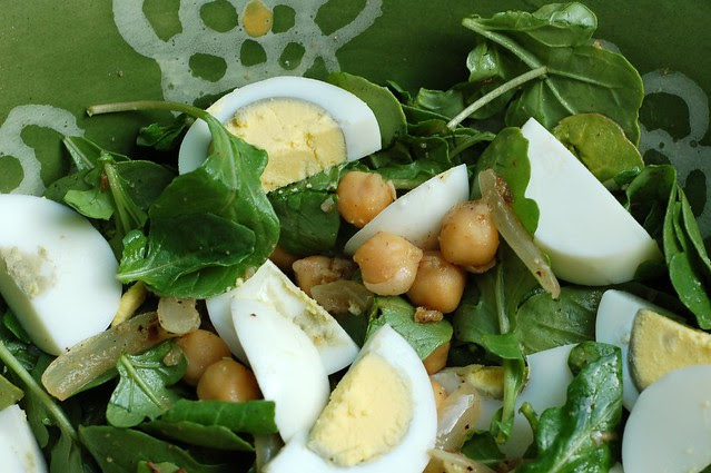 Warm Spiced Chickpea Arugula Salad by Eve Fox, Garden of Eating blog, copyright 2011
