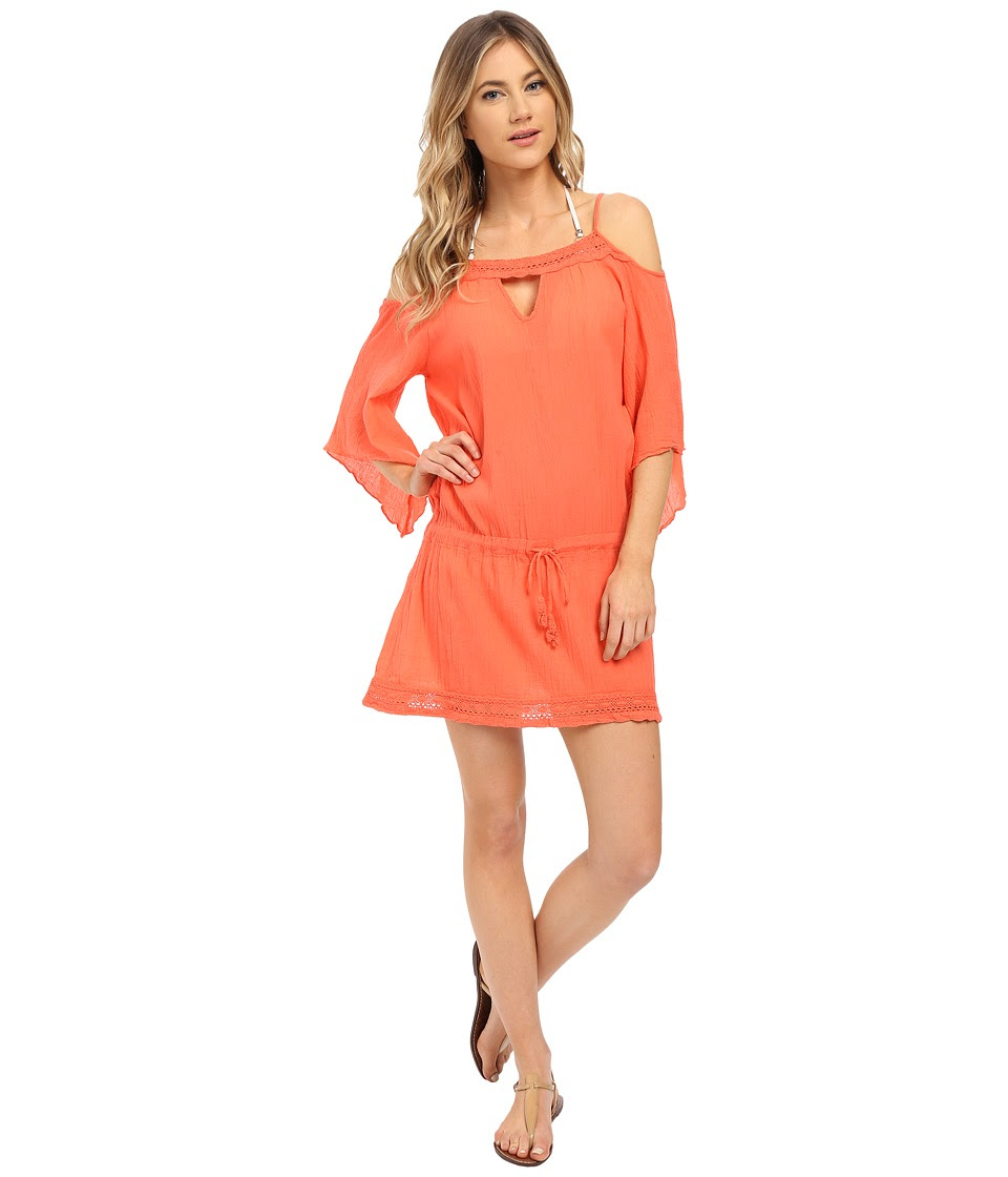 BECCA by Rebecca Virtue - Tivoli Tunic Cover-Up (Papaya) Women's Swimwear
