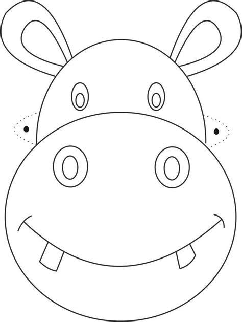 hippo mask printable coloring page  kids