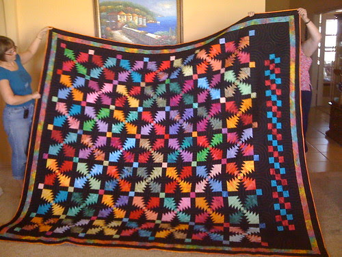 Moira's Big Bright Pineapple Quilt