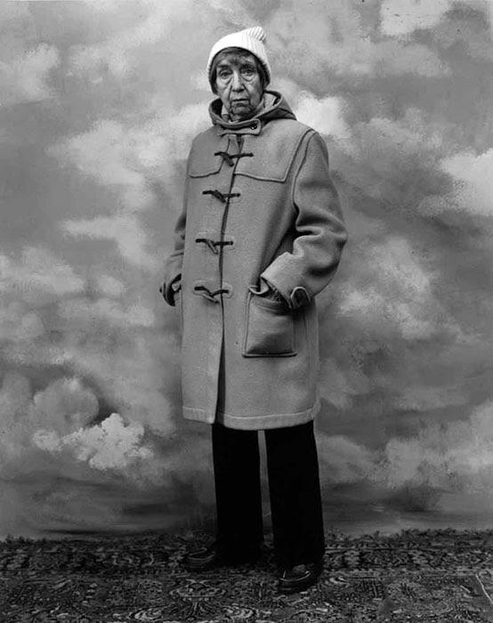 A portrait of Berenice Abbott taken by Hank O'Neal in New York City, 18 November 1979.