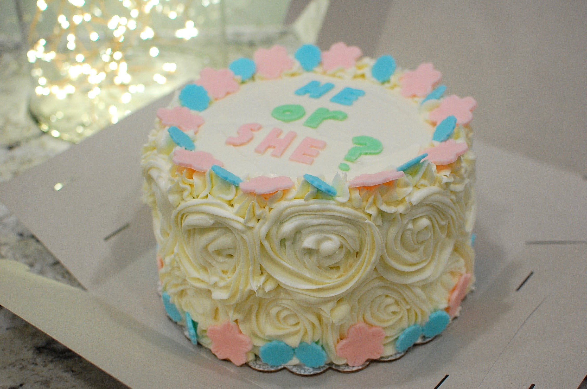 Ombré Blue Or Pink Baby Shower Gender Reveal Cake The 350 Degree