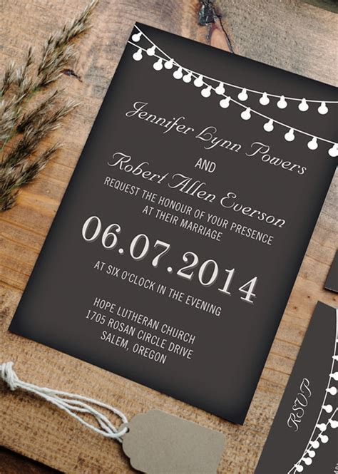 Top 10 Chalkboard Wedding Invitations For Rustic Weddings