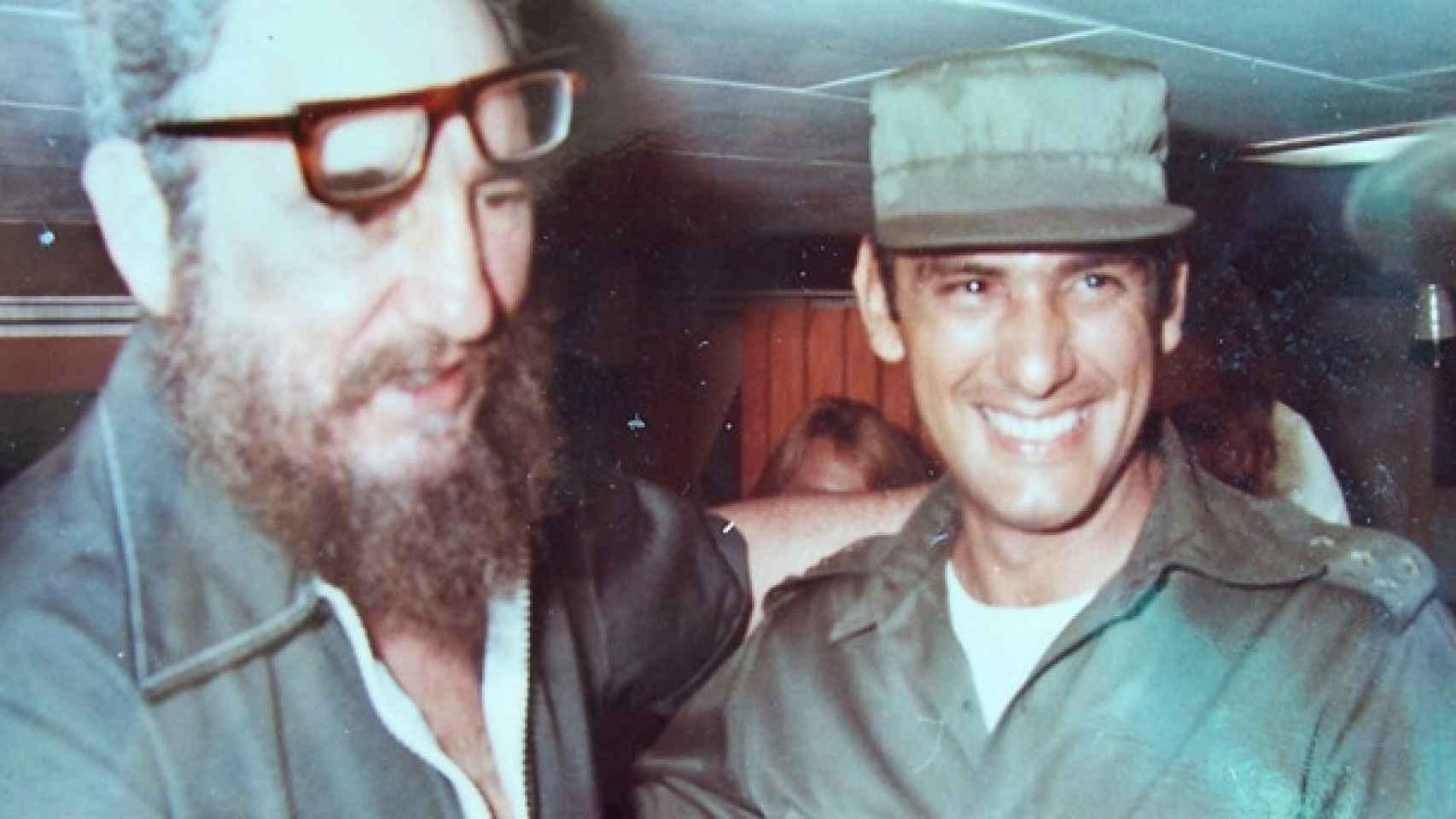 Fidel Castro con Juan Reinaldo Sánchez su guardaespaldas