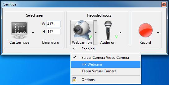 Camtica Webcam de dispositivos