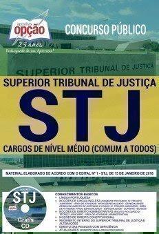 apostila para o concurso STJ CARGOS DE NÍVEL MÉDIO (COMUM A TODOS)