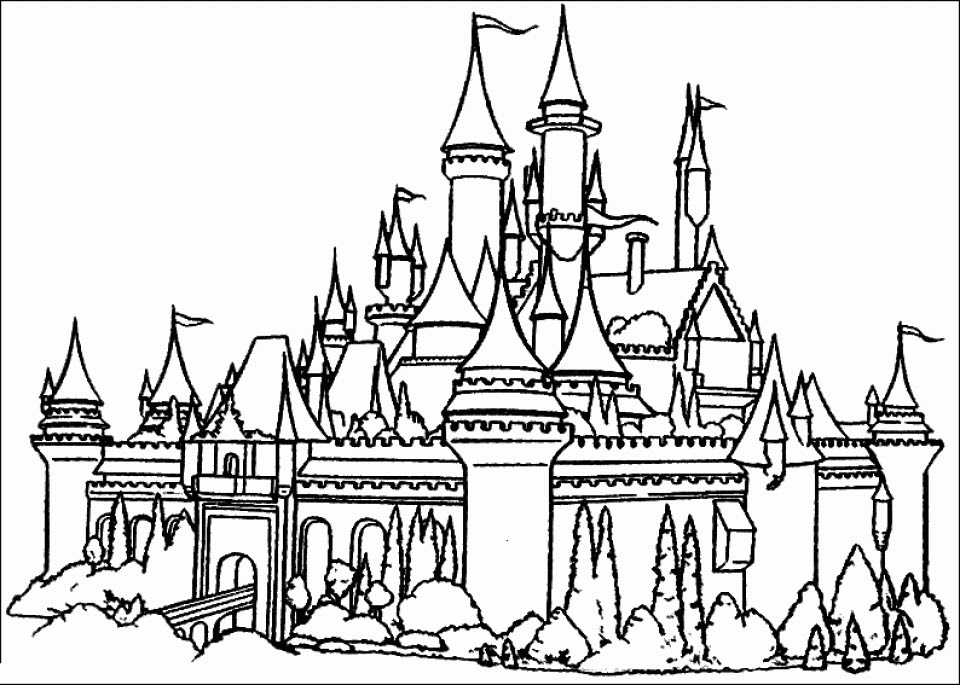 castle coloring pages free fs53m
