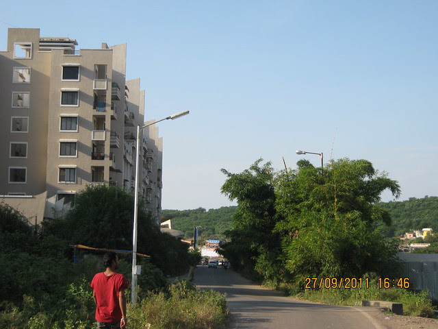 Aditya Garden City and approach road to Pinnac West-End Residency, 2 BHK Flats, Warje, Pune