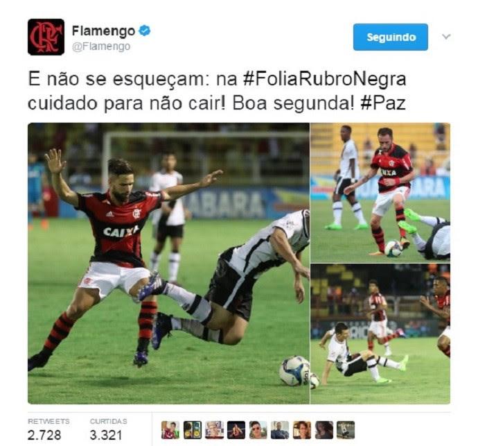 Flamengo x Vasco quedas (Foto: Reprodução/Twitter)