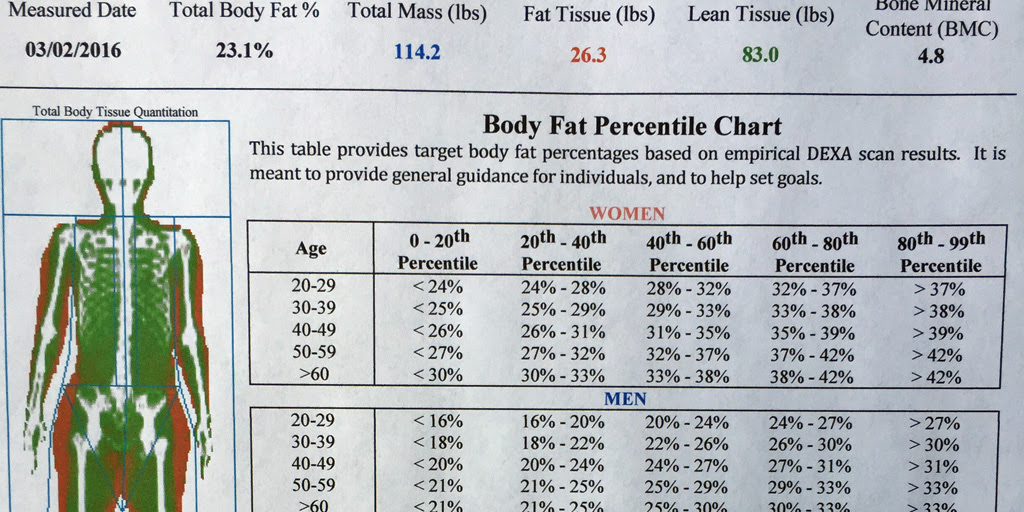body fat percentage to look good