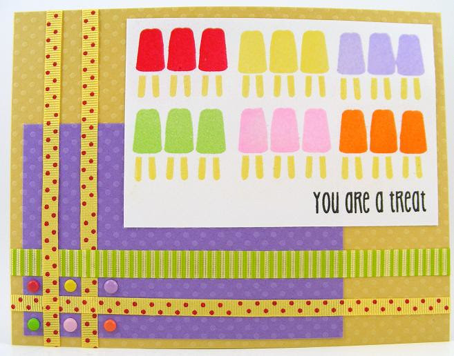 SOL May Embossed Popsicles Card