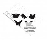 Butterfly Collection Silhouettes Woodworking Pattern - fee plans from WoodworkersWorkshop® Online Store - butterflys,butterflies,insects,scrollsawing,yard art,painting wood crafts,scrollsawing patterns,drawings,plywood,plywoodworking plans,woodworkers projects,workshop blueprints