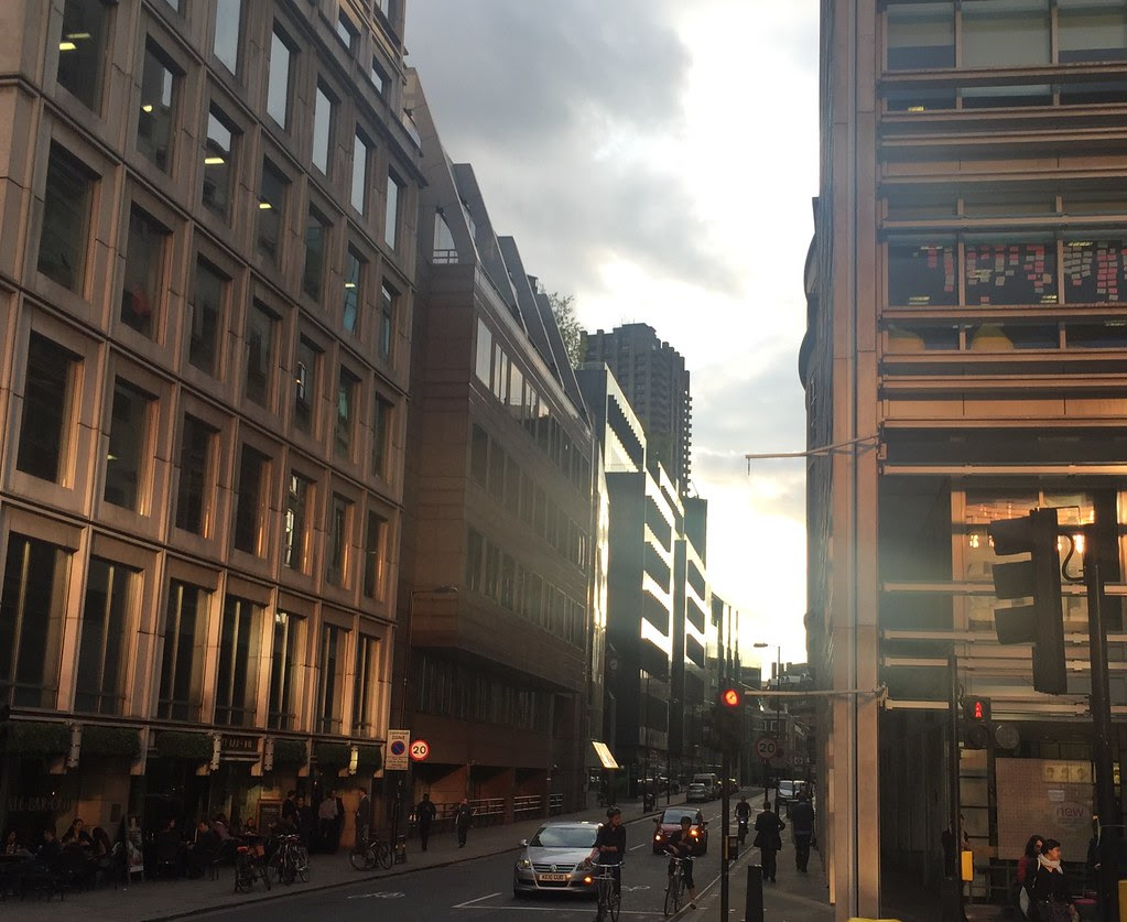 Sunset on Chiswell Street