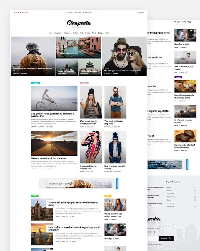 Cloapedia – Free Lifestyle Responsive Website Template