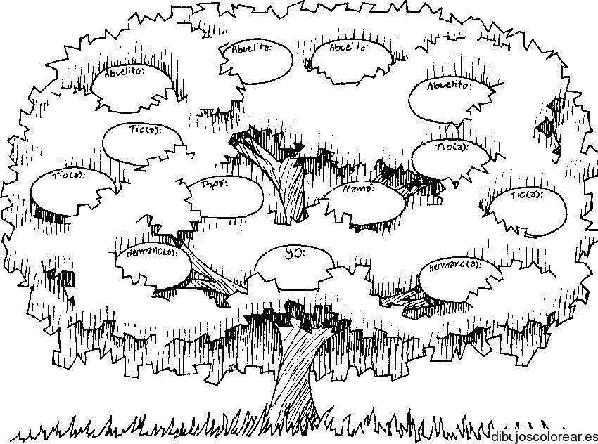 Dibujo De Un árbol De Manzanas