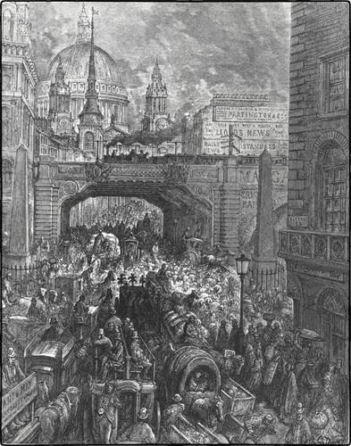 Gustav Dore - Ludgate Circus