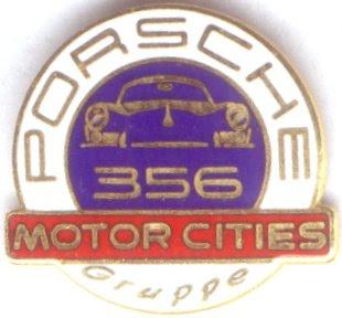 Authentic German Car Badges Porsche Corner