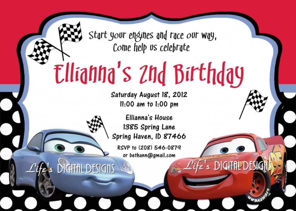 2nd Cars Birthday Invitations 1024x731