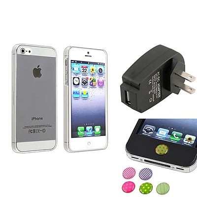 BUY Insten 1474558 3-Piece iPhone Case Bundle For Apple iPhone 5/5S, Apple iPhone/iPad/iPod Touch LIMITED
