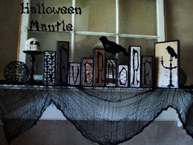 Halloween Mantle Inspired By Edgar Allen Poes The Raven