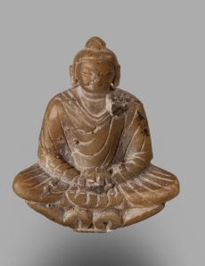 Small Buddha: Khotan 4th – 6th century AD Carved Stone
