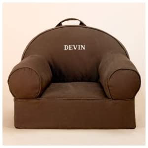 Kids Personalized Seating: Kids Personalized Chocolate Brown Nod Chair