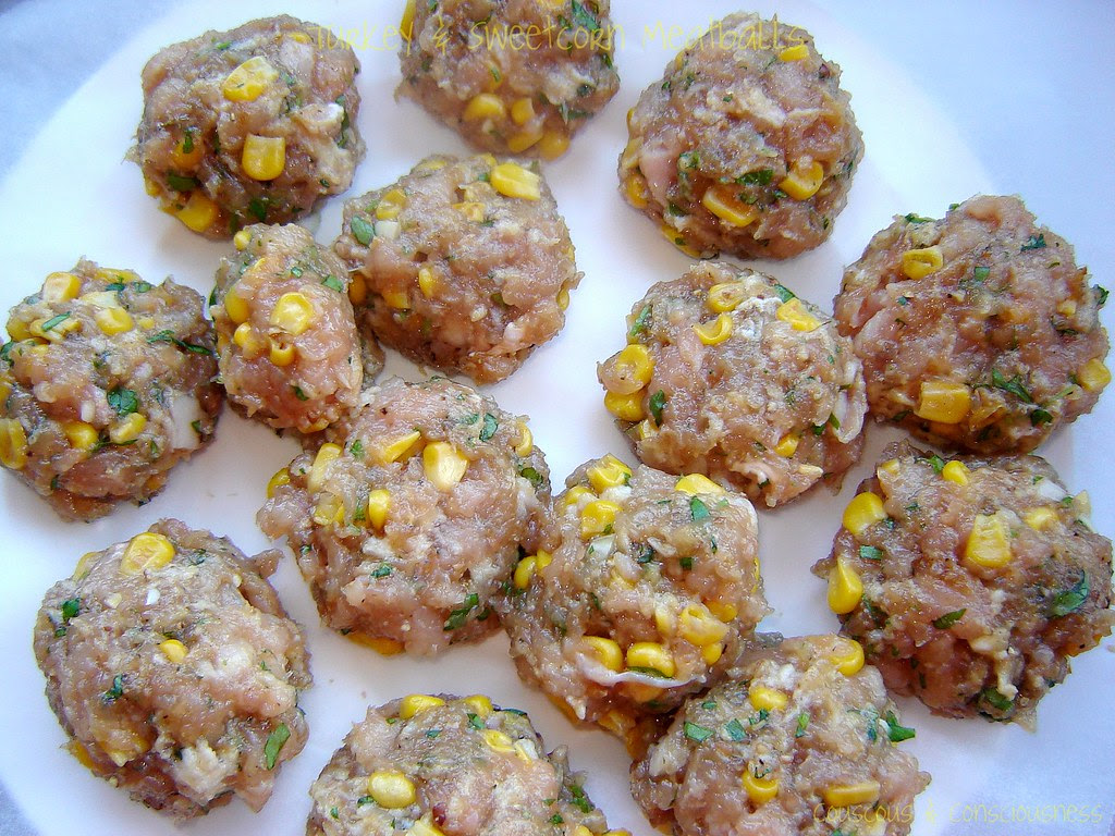 Turkey & Sweetcorn Meatballs with Roasted Red Pepper Sauce 6