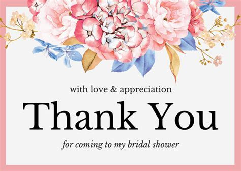 Bridal Shower Thank You Card Wording   FREE Wedding Resource!
