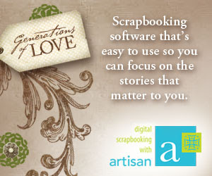 Panstoria Artisan digital scrapbooking software