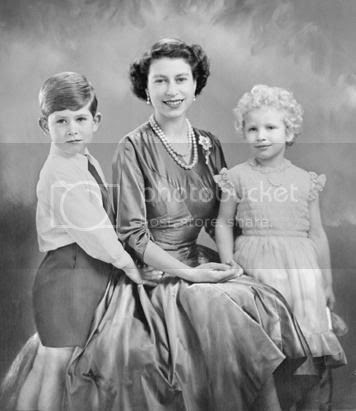 Queen Elizabeth Prince Charles and Princess Anne 1950s fashion the crown