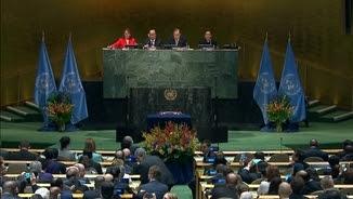 """Intervenció de Ban Ki-moon a la cerimònia de firma de l""""Acord de París"""""""