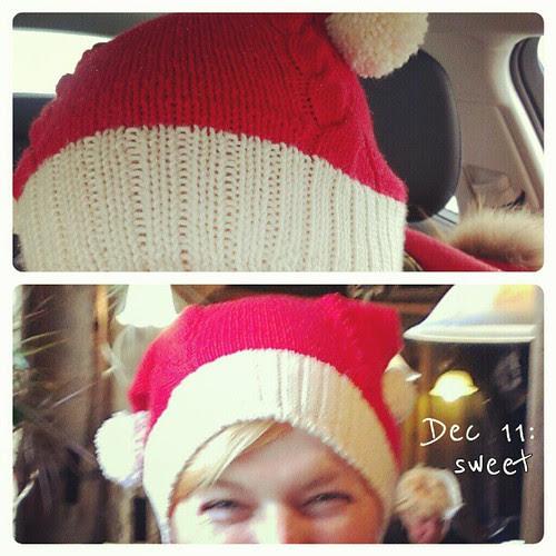 Dec 11: sweet ... Am I not #sweet? #santa #hat #fmsphotoaday
