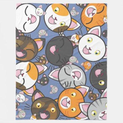 Oodles of Kitty Fleece Blanket