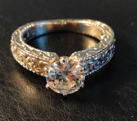 Moissanite Engagement Rings : MOISSANITE WOMANS ENGAGEMENT
