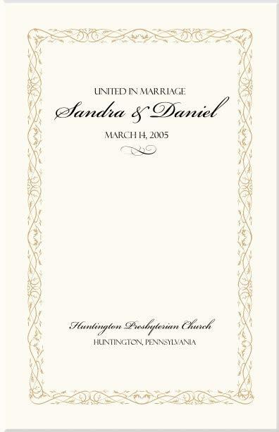 Wedding Program Samples with Borders