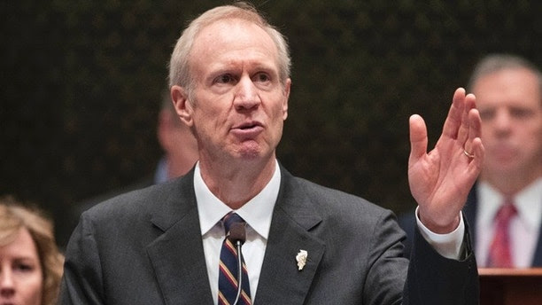 FILE - In this Jan. 25, 2017 file photo, Illinois Gov. Bruce Rauner speaks in the Illinois House chamber in Springfield, Ill. Gov. Rauner has called state legislators back to the state Capitol for a 10-day special session starting next week to hammer out a budget deal and end an unprecedented impasse that could soon enter a third year. The Republican announced the news Thursday, June 15, 2017 in a Facebook video and statement. (Ted Schurter/The State Journal-Register via AP File)