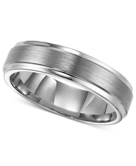 Triton Men's Tungsten Carbide Ring, 6mm Comfort Fit