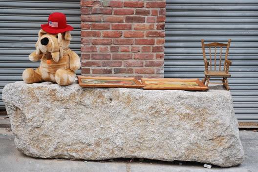 Stuffed Animal Dog on Rock
