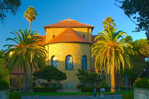 Stanford Chapel in sunset