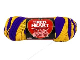 Coats & Clark Red Heart Team Spirit Yarn 5oz Purple/Gold