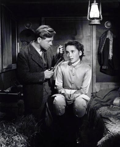 Mickey Rooney and Elizabeth Taylor