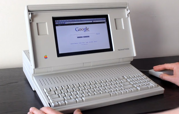 Self-declared hipster builds Macintosh Portable case mod, goes well with skinny jeans (video)