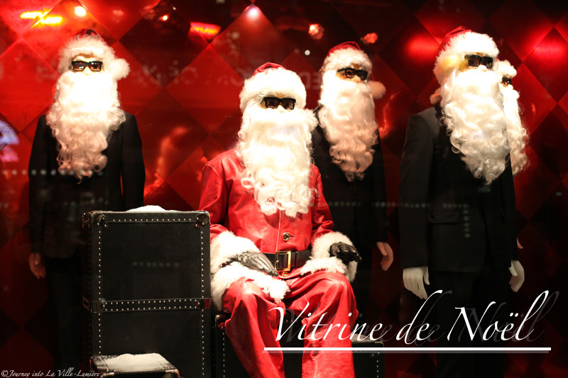 Christmas window display at Printemps