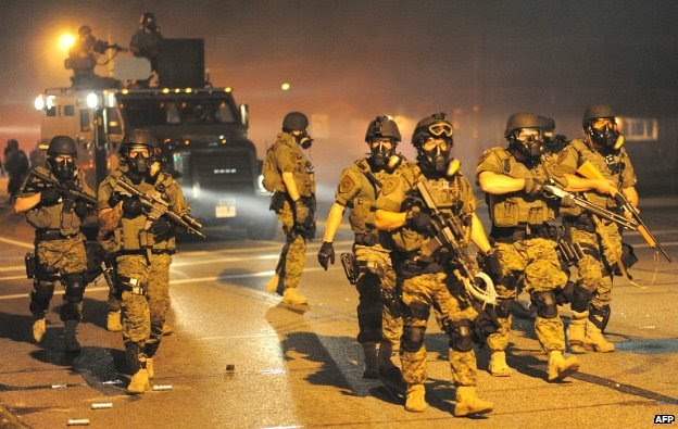 Police Troops at Ferguson