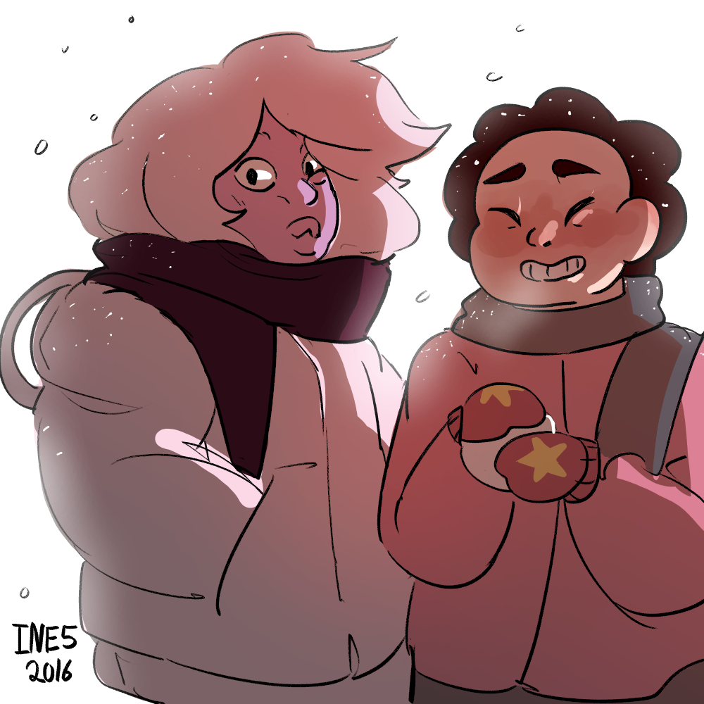 Steven universe wintery drawing :D