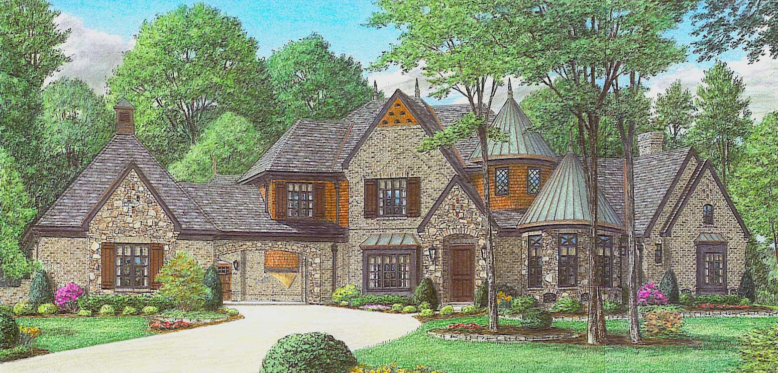 French, Country House Plans  Home Design 1701863