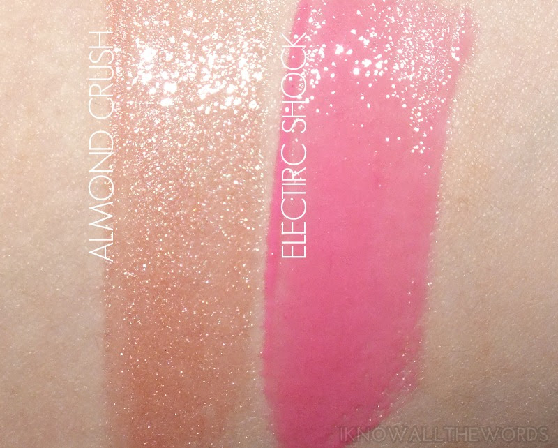 Maybelline High Shine Gloss- Almond Crush and Electric Shock (3)